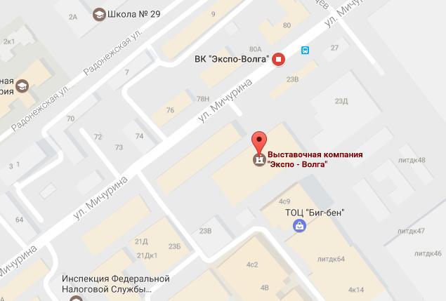 Карта проезда на выставку ВАШ коттедж-2017